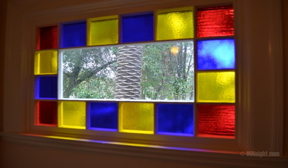 Cedar Gables Inn Interior - Mosaic Window Tiles