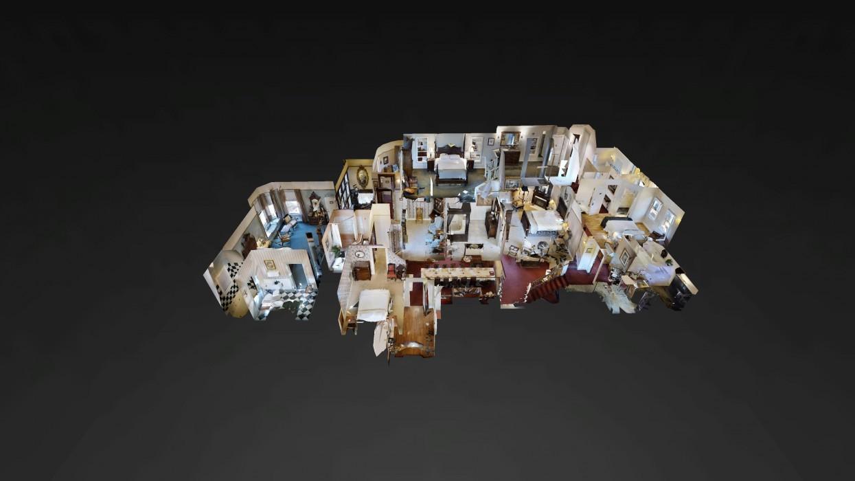 Cedar Gables Inn Dollhouse - Cedar Gables Inn Dollhouse 3