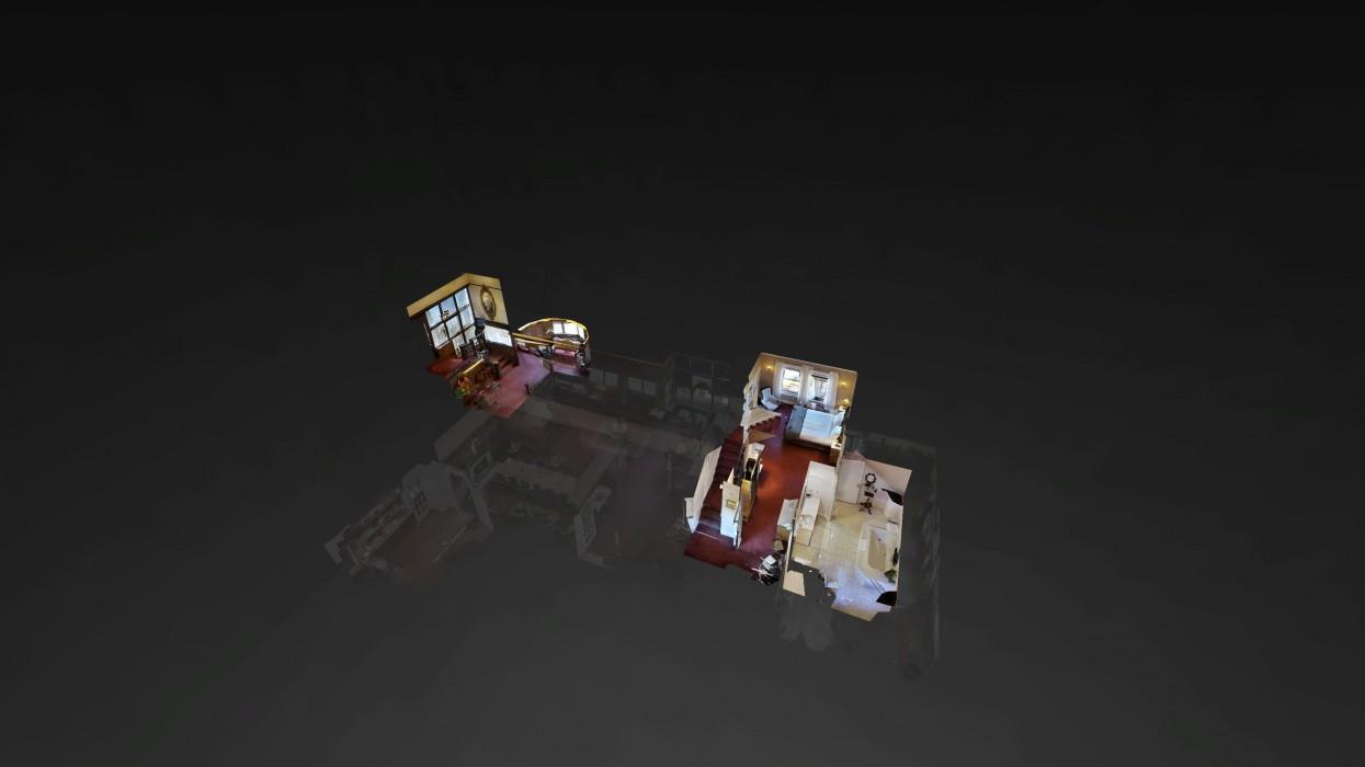 Cedar Gables Inn Dollhouse - Cedar Gables Inn Dollhouse Floor 2