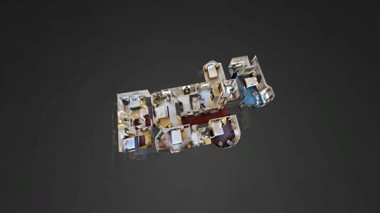 Cedar Gables Inn Dollhouse - Cedar Gables Inn Dollhouse Floor 3
