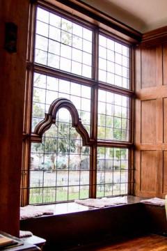 Cedar Gables Inn Interior - Original arch window