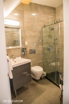 Bathroom with walk in shower