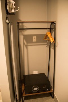 Clothes rack and safe